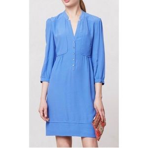 Maeve Taryn Crepe Shift Dress in Periwinkle